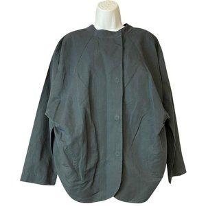 COS Grey Loose Fit Cotton Linen Jacket 36 Blouse